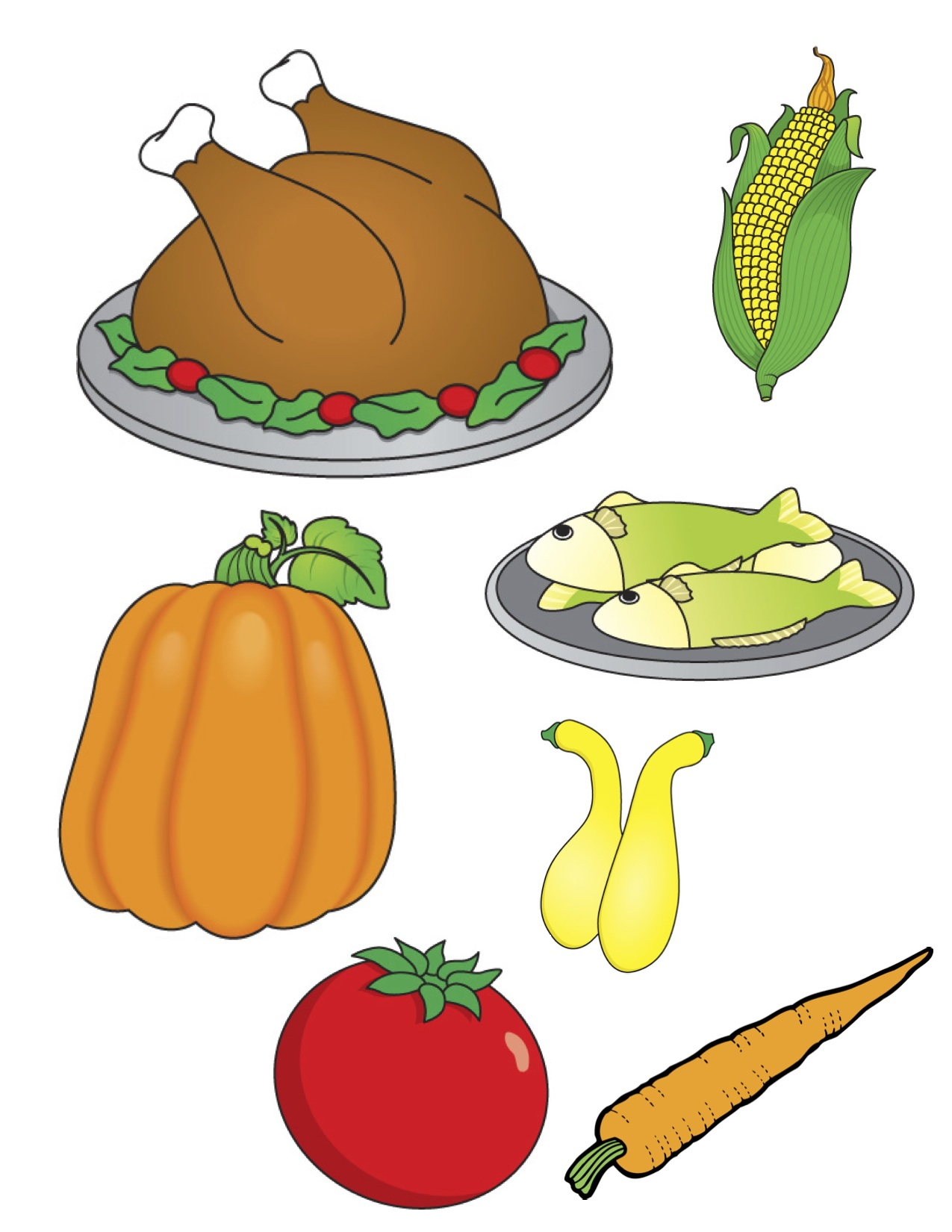 Thanksgiving Dinner Clip Art; - Thanksgiving Food Clipart