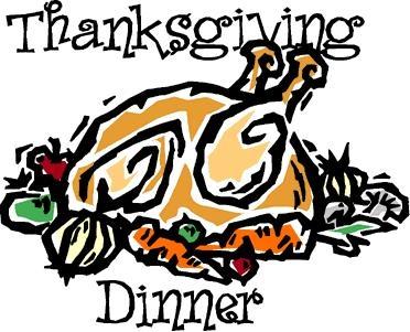 Thanksgiving Dinner Clip Art . .