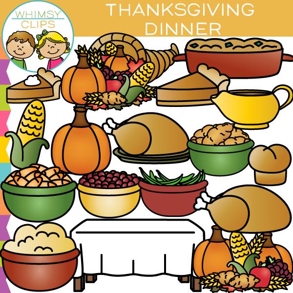 Thanksgiving Dinner Clip Art-Thanksgiving Dinner Clip Art-19