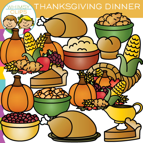 Thanksgiving dinner clipart 3 .