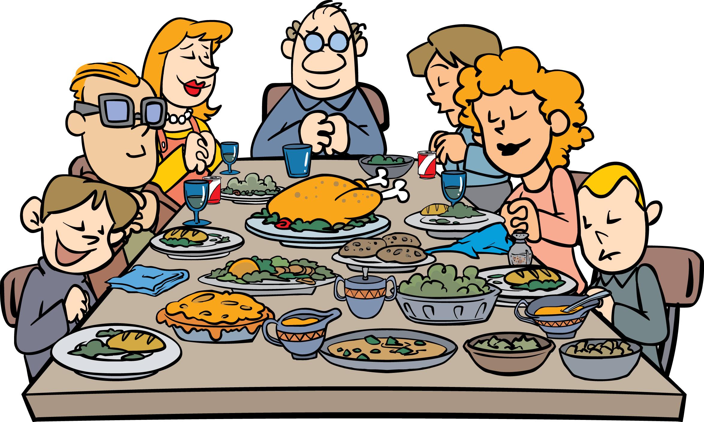 Thanksgiving dinner clipart 3 . Thanksgiving Family Dinner .