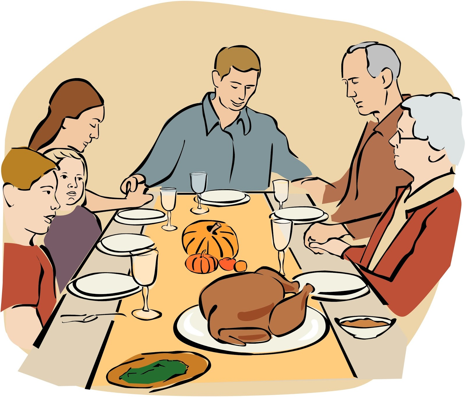 ... Thanksgiving dinner clipart 7 ...