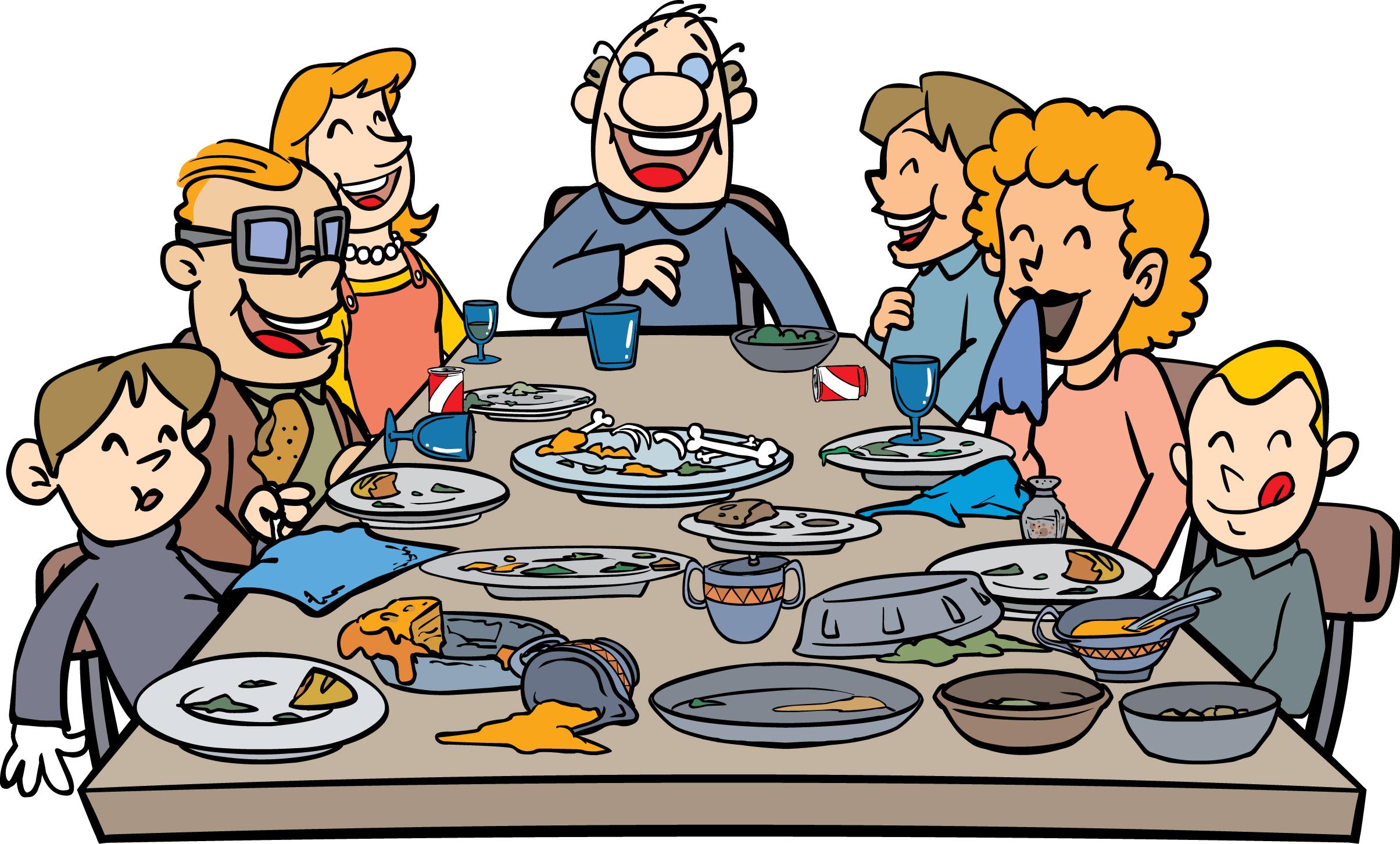 Thanksgiving Family Dinner Clip Art-Thanksgiving Family Dinner Clip Art-14