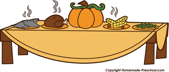 Thanksgiving Feast Clipart In