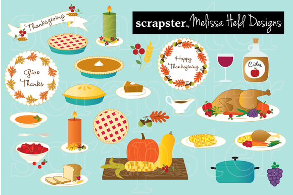 Thanksgiving Food Clip Art ..-Thanksgiving Food Clip Art ..-6