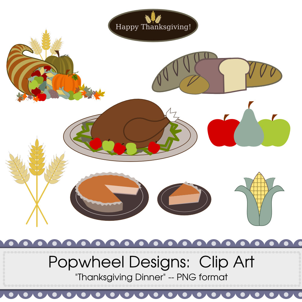 Thanksgiving Food Clipart Thanksgiving Dinner Pictures