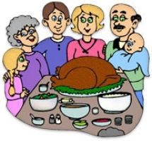 Thanksgiving Table Clipart