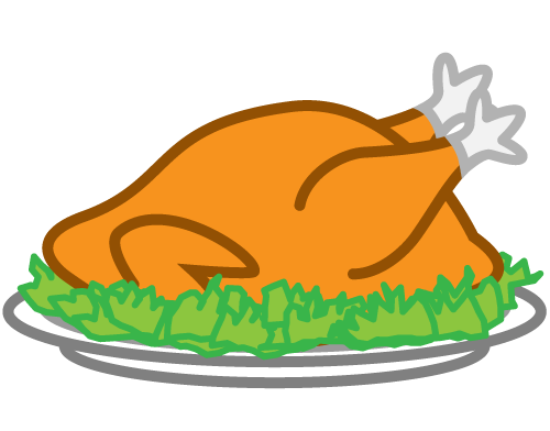 Thanksgiving Turkey Clip Art - Cooked Turkey Clipart