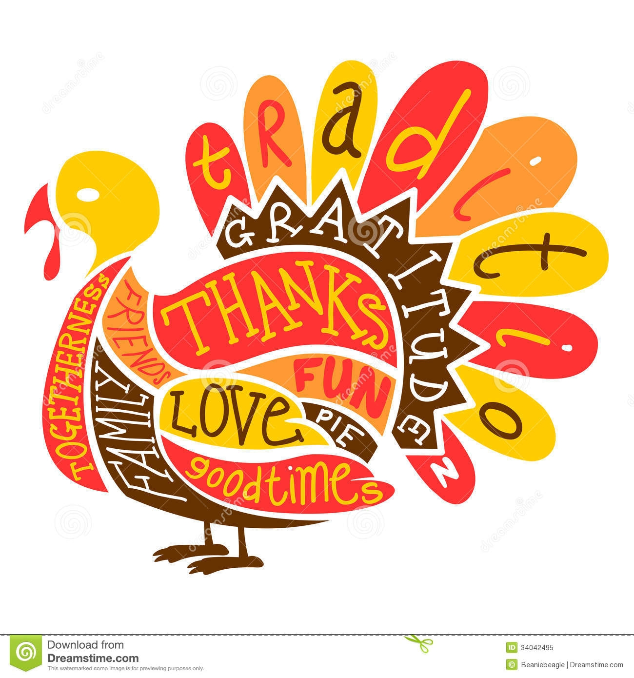 Thanksgiving Turkey Clipart . - Clipart Thanksgiving Turkey