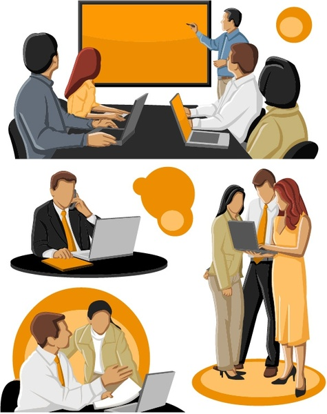 The Cartoon Business People Vector-the cartoon business people vector-14