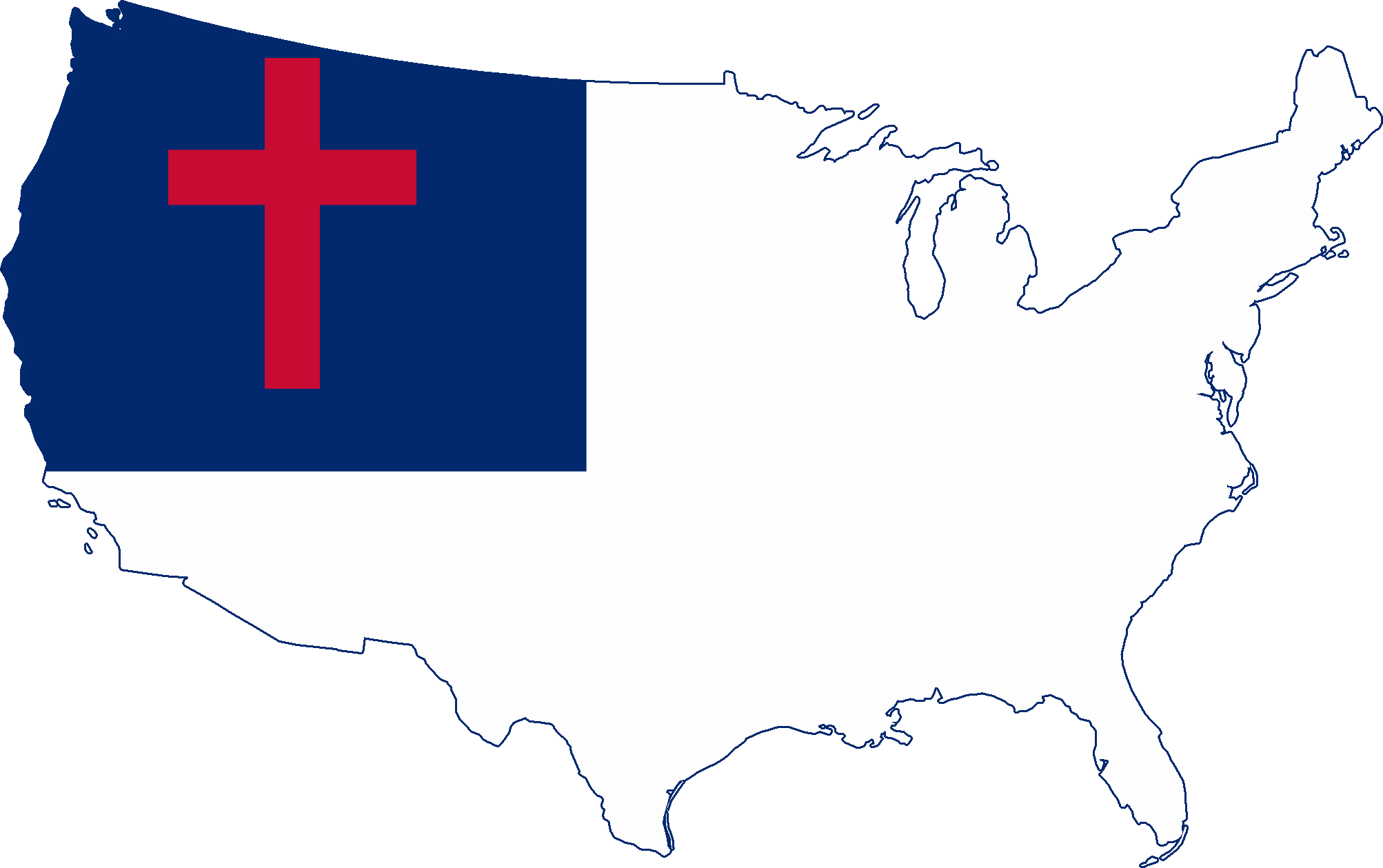 The Christian Flag Picture Pledge To