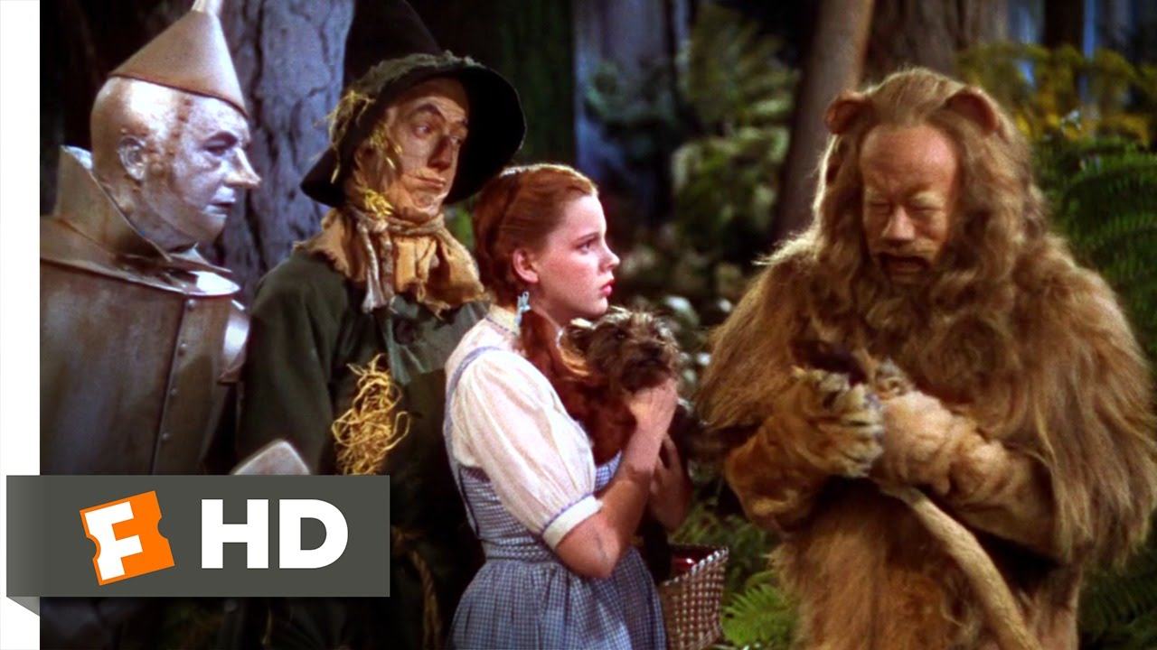 The Cowardly Lion - The Wizard of Oz (6/8) Movie CLIP (1939) HD - YouTube