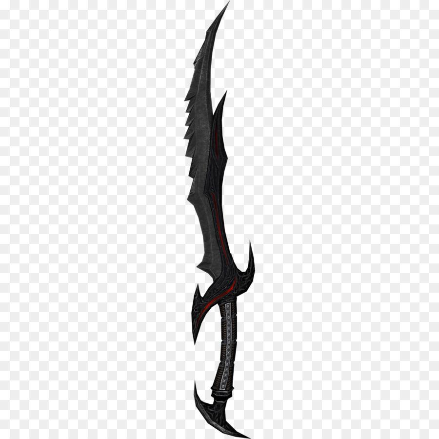 The Elder Scrolls V: Skyrim Oblivion Sword Weapon Video game - Skyrim  Cliparts