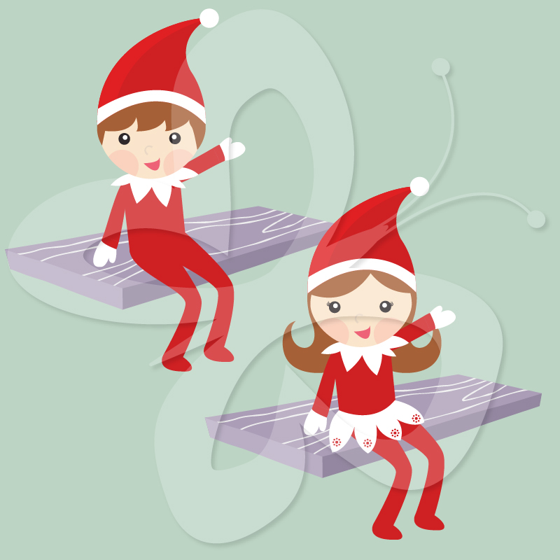 The Elf on the Shelf Clip Art Creative Clipart Collection