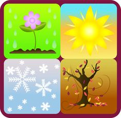 The four seasons weather for kids clipart - ClipartFest