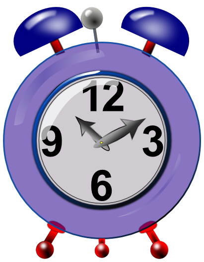 The gallery for alarm clock clipart clipartcow