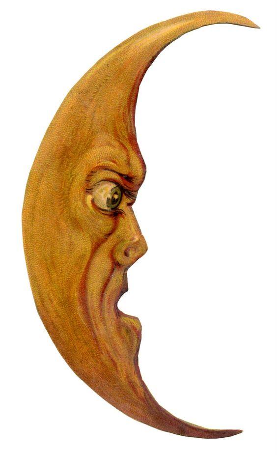 *The Graphics Fairy LLC*: Vintage Hallow-*The Graphics Fairy LLC*: Vintage Halloween Clip Art - Grouchy Moon Man-9