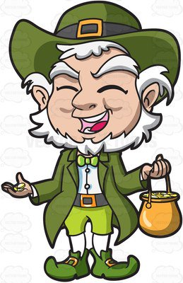 . ClipartLook.com A charming old leprech-. ClipartLook.com A charming old leprechaun with his pot of gold-13