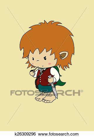 Clip Art - hobbit imaginary character. F-Clip Art - hobbit imaginary character. Fotosearch - Search Clipart,  Illustration Posters, Drawings-18