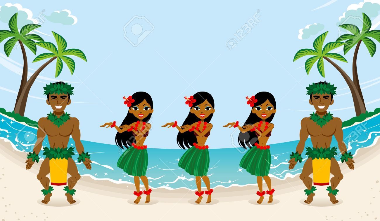 The . - Hula Clipart
