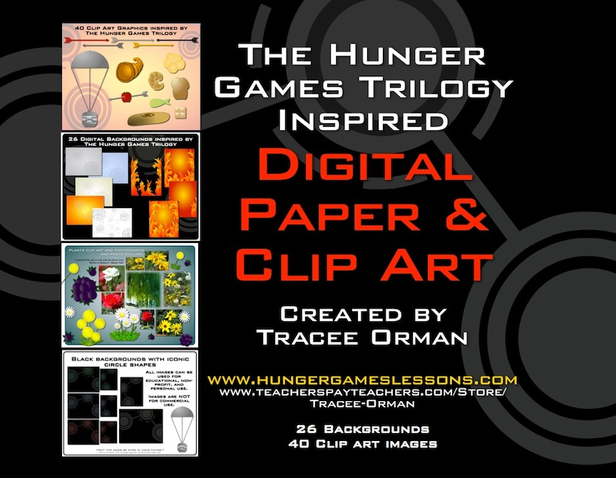 Hunger Games Themed Digital Paper u0026 Clip Art