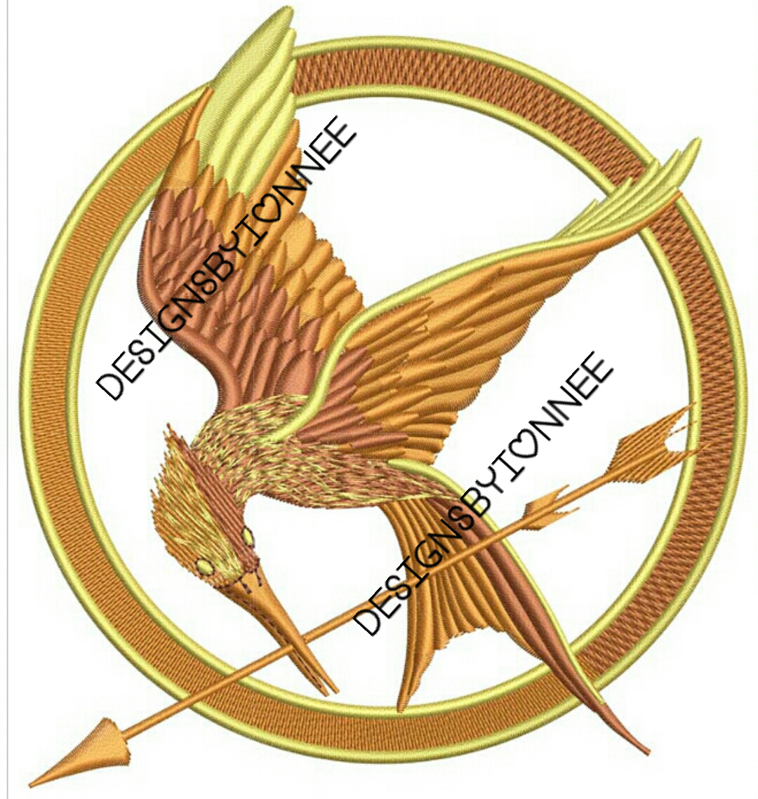 The Hunger Games Logo Embroidery Design 2 Sizes