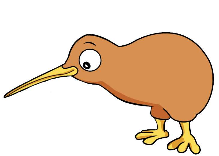 The Kiwi bird is a small flightless bird endemic to New Zealand. You can use this cartoon Kiwi bird clip art for personal or commercial use.
