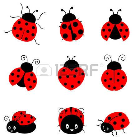 the ladybug: Cute colorful ladybugs clip-the ladybug: Cute colorful ladybugs clipart collection isolated on white background-9