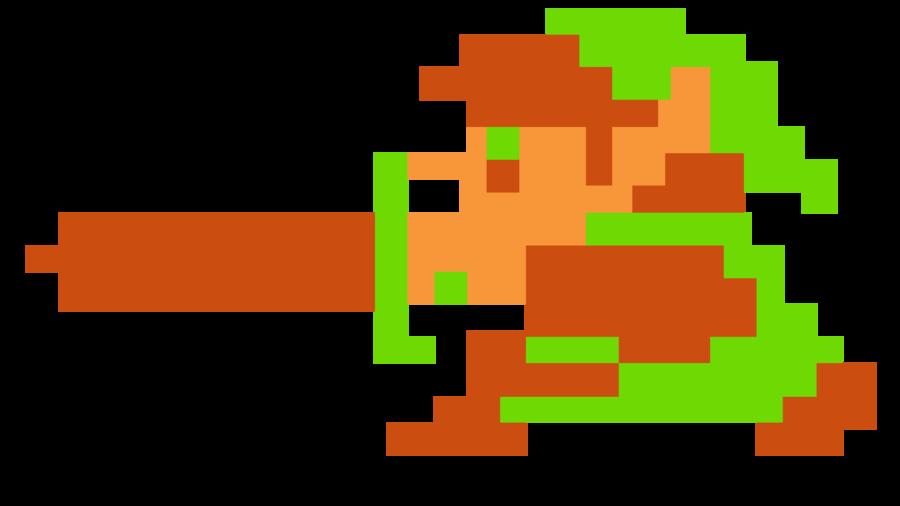 Link The Legend Of Zelda 8bit Full HD By-Link The Legend of Zelda 8bit Full HD by Racamo7 ClipartLook.com -6