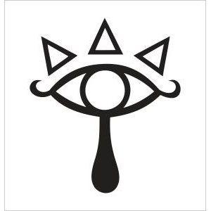 The Legend Of Zelda Sheika Tribe Eye Sym-The Legend of Zelda Sheika Tribe Eye Symbol Vinyl Die Cut Decal Sticker  5.00 Black-13