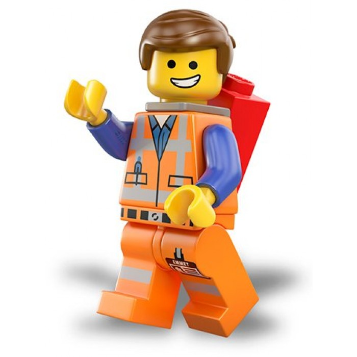 LEGO The LEGO Movie Emmet With Piece Of -LEGO The LEGO Movie Emmet with Piece of Resistance Minifigure-3