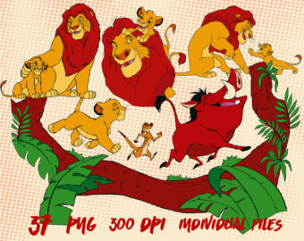 The Lion King Clipart Images Digital Clip Art Instant Download Graphics