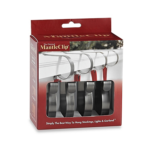 The Original Mantle Clip™ in Pewter (Set of 4)