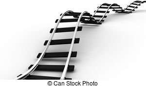 ... The Railroad - The Railway For A Tra-... The railroad - The railway for a train on a white background-16