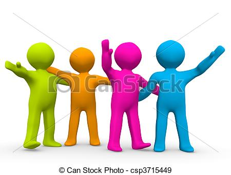 ... The Right Team - A small group of co-... The Right Team - A small group of colourful people.-15