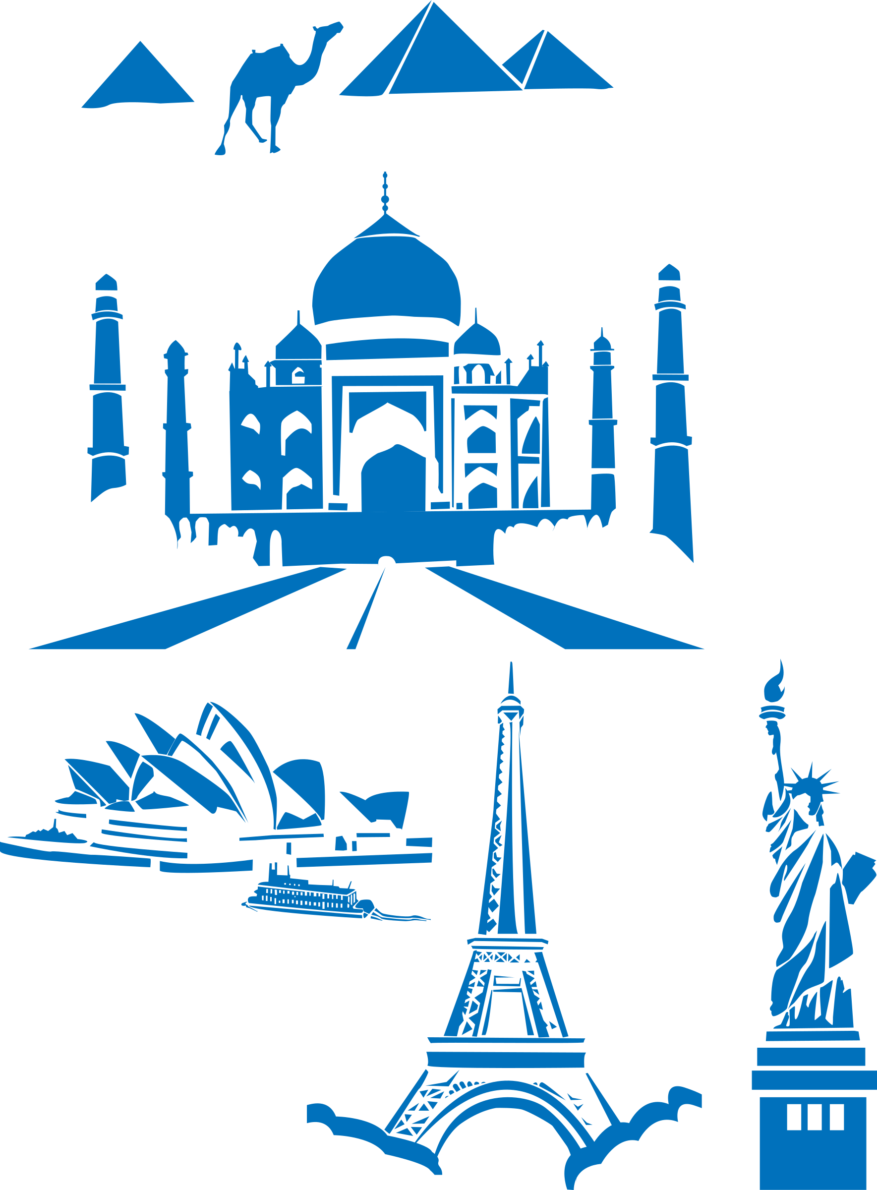 BIG IMAGE (PNG) - The Seven Wonders Clipart