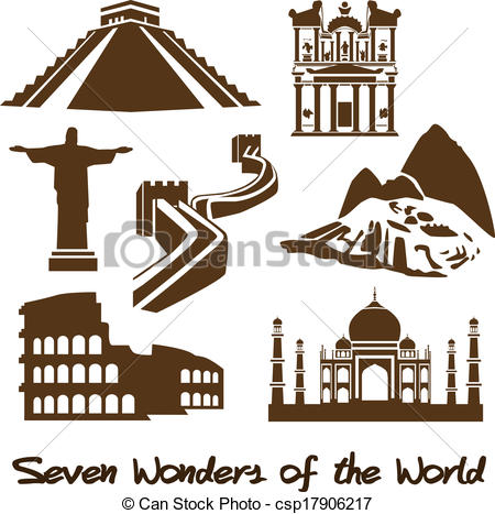 Seven Wonders of the World -  - The Seven Wonders Clipart