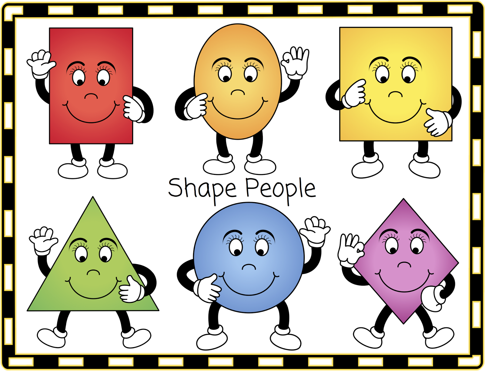 The Shape People The Shapes W - Shapes Clip Art