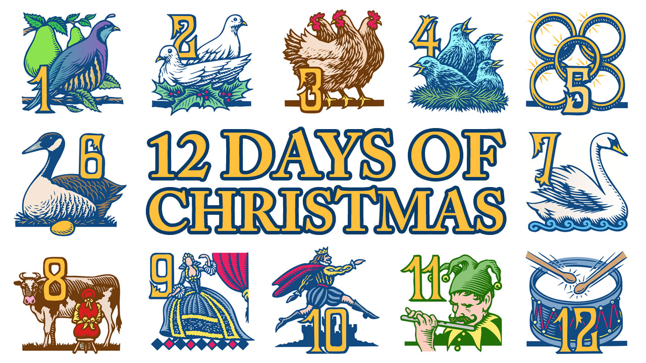 The Song The Twelve Days Of . - 12 Days Of Christmas Clipart
