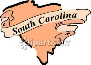 The State of South Carolina - Royalty Free Clipart Picture