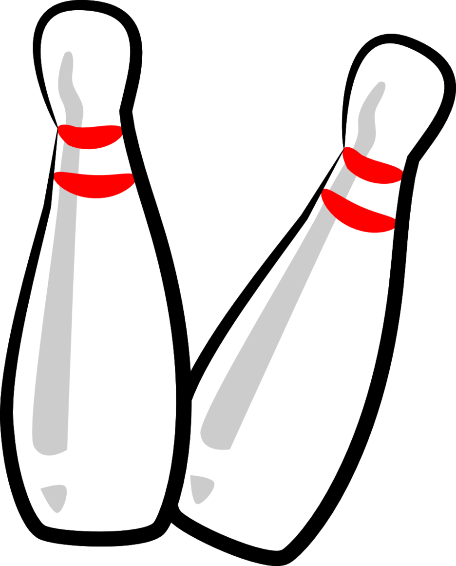 The Totally Free Clip Art Blo - Bowling Pin Clipart