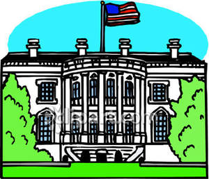 The White House In Washington Dc Royalty Free Clipart Picture