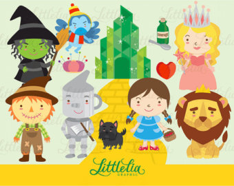 The Wonderful wizard of OZ clipart set / instant download - 13018