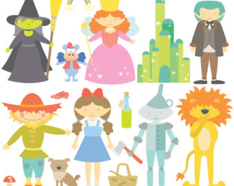 The Wonderful Wizard Of Oz Digital Clipart u0026amp; Vector Set - Instant Download - Personal and Commercial Use