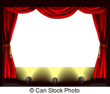 Theater Stage And Red Curtain Clipartby -Theater Stage And Red Curtain Clipartby Subbotina6/84; Theatre stage - A theatre stage, lights and curtain.-14