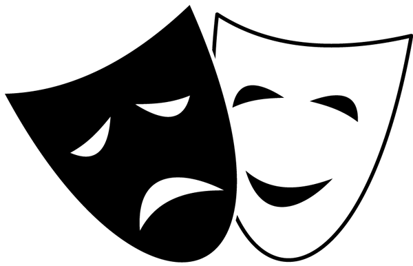 Theatre Faces Clipart - Clipa - Drama Masks Clipart