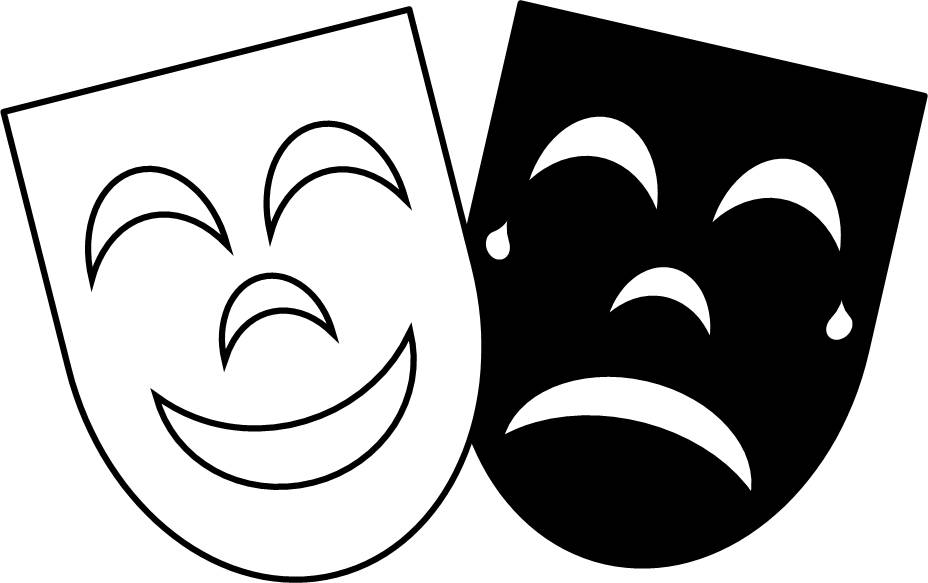 Theatre Mask Clipart Free Dow - Drama Masks Clipart