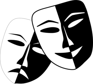 Theatre Masks Clip Art At Clk - Drama Masks Clipart