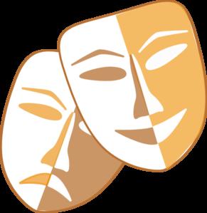 Theatre Masks Clip Art - Drama Mask Clip Art