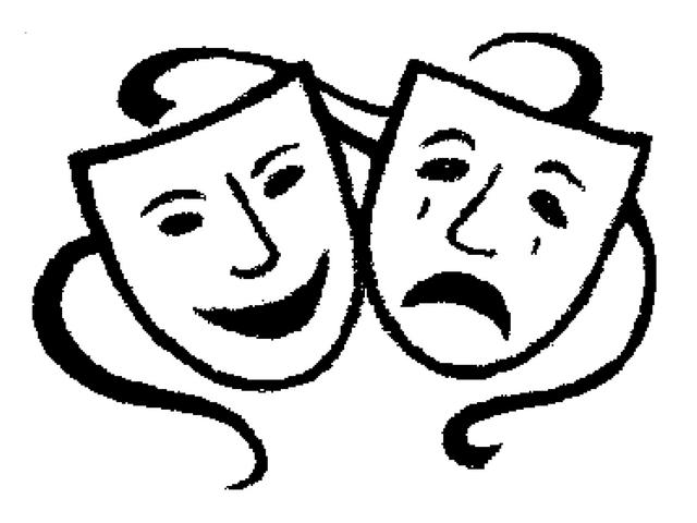 Theatre Masks Clipart - Theatre Masks Clip Art